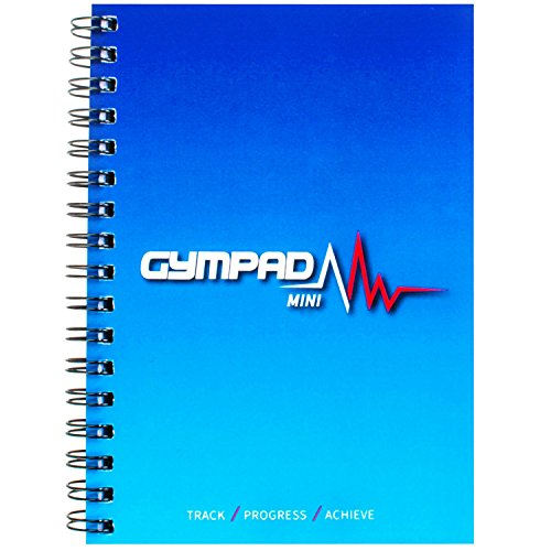 GymPad Mini Workout Journal - The Small Stylish Way To Track Your Workouts (Ocean Blue)