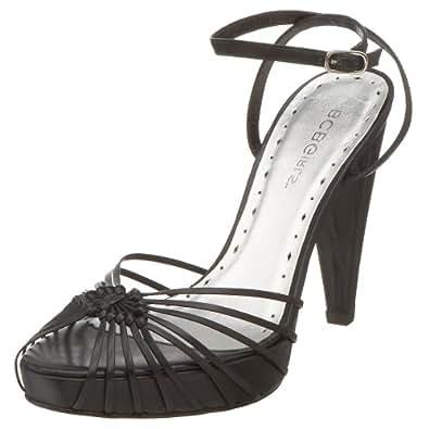 BCBGirls Women's Jaifa Ankle Strap Sandal, Black, 5.5 M