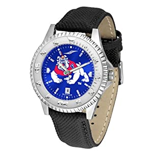 Fresno State Bulldogs NCAA Anochrome Competitor Mens Watch (Poly Leather Band) by SunTime