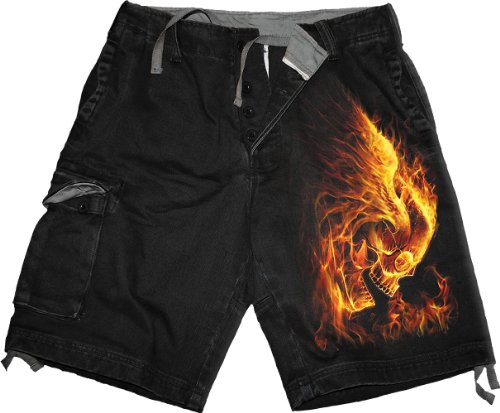 Spiral Burn In Hell Pantaloncini Vintage nero M