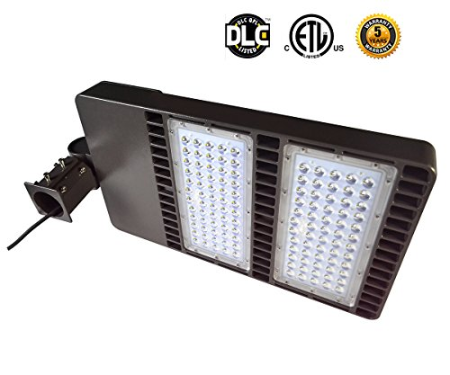 Tektek 300W Aluminum Body Low Profile LED Parking Lot Shoebox Lamp,30000lm,1000w MH/HPS Replacement,Slip Fitter,DLC ETL Listed (Low Profile 300w compare prices)