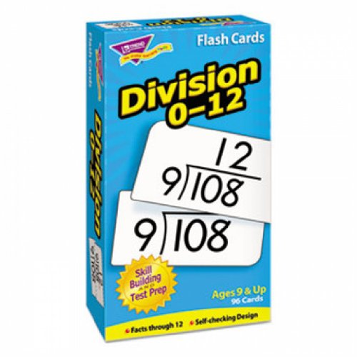 Skill Drill Flash Cards, 3 x 6, Division - 1
