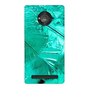 Delighted Feather Cyan Back Case Cover for Yu Yunique