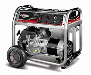 Briggs & Stratton 30468 5500-Watt Gas Powered Portable Generator with 1650 Series 342cc Engine and Power Surge Alternator, Engine Oil Included (Discontinued by Manufacturer)