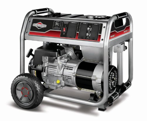 Briggs & Stratton 030468 6,875 Watt 305cc Briggs & Stratton 1450 Series OHV Gas Powered Portable Generator With Wheel Kit