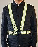高視認性反射ベスト 高輝度反射 安全 夜間のバイク 自転車 ジョギング 工事現場用 フリーサイズ TOMIROAD専用収納袋付き