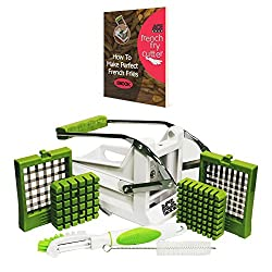 Ace Premium French Fry Cutter Fry Potato Press and Vegetable Slicer with 2 Interchangeable Stainless Steel Grid Blades Potato Fry Cutter a Great Kitchen Utensil French Fry Maker and French Fries eBook from Ace - Chef