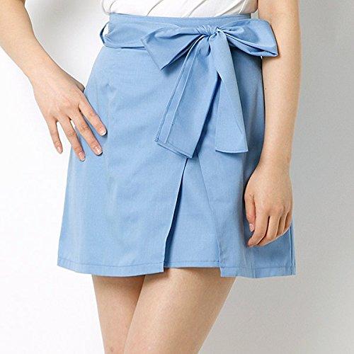 セシルマクビー(CECIL McBEE) 15.SS ウエストリボンラップ風スカート【50ブルー/M】