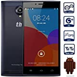 """THL T6 Pro Waterproof Dual SIM Dual Standby WIFI 3G Smartphone 5.0 inch/5"""" 5 Point Multi-Touch Capacitive Screen MTK6592M 1.4GHz Android 4.4 Octa Core 8GB GPS Dual Cameras 8.0 MP Sensor Bluetooth V4.0 FM Radio Protective Case Mobile Phone Cellphone (Black)"""