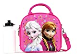 Disney's Frozen Elsa & Anna Lunch Bag w/ Water Bottle (Pink)