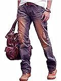 Designer Fashion Ripped Denim Blue Mens Jeans Trouser Pants Blue F0004