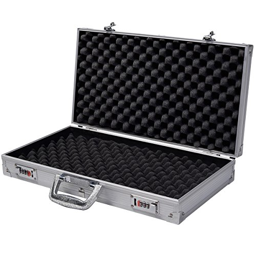 Aluminum New Framed Locking Gun Pistol HandGun Lock Box Hard