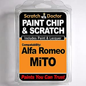 Alfa Romeo MiTo Touch Up Paint Scratch Repair Kit. ALL Colours, ALL Years. by The Scratch Doctor