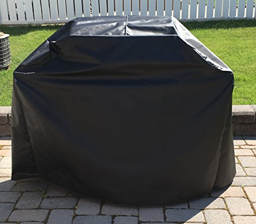 Char-Broil 463436215 Gas Grill Custom Fitting Outdoor Marine Black Water Resistant Cover - 57''W x 22''D x 46.5''H (Charbroil 463436215 compare prices)
