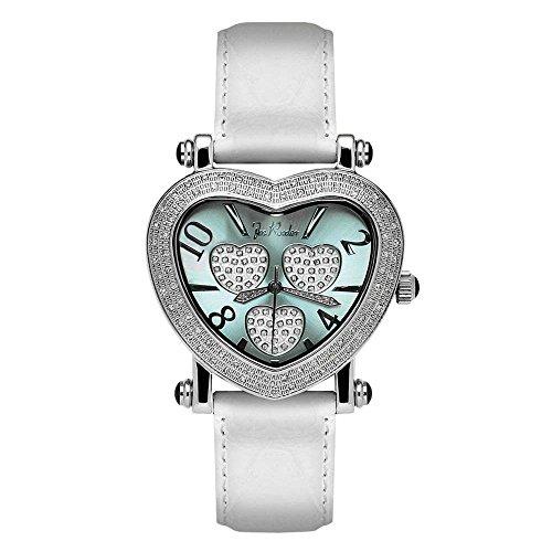 Reloj de mujer de Joe Rodeo Diamond - moving corazón plata 0.75 CTW