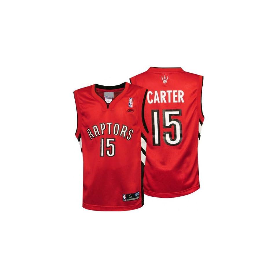 989a121470d Vince Carter Red Reebok NBA Replica Toronto Raptors Youth Jersey on ...