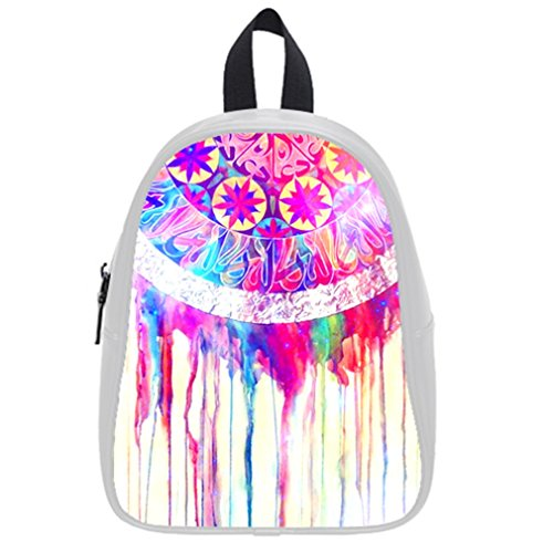 Fashion Funny Dream Catcher Colorful Distressed Colorful Art Kid'S School Bag & Backpack For Kids White front-992249