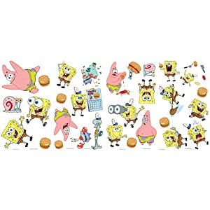 Blue Mountain Wallcoverings GAPP1826 SpongeBob Appliqués