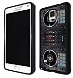 Samsung GALAXY Note 4 Dj Mixer Controller Cool MUSIC DJ Clubing Design Fashion Trend SILICONE GEL RUBBER CASE COVER Full Sides and top Case Black