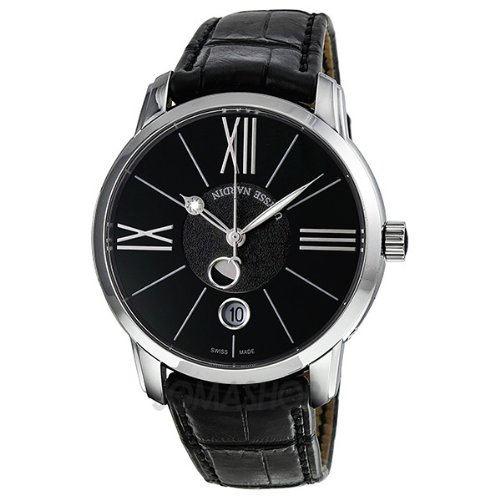 Ulysse Nardin Classico Luna Automatic Black Dial Moonphase Mens Watch 8293-122-2-42