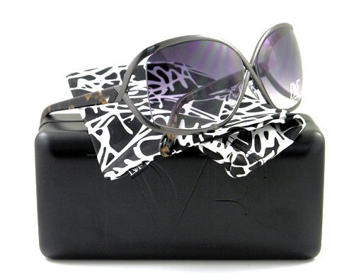 51XA53wDWSL AUTHENTIC DIANE VON FURSTENBERG SUNGLASSES DVF 800 009 BLACK