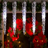 Gemmy Lightshow Icicle Lights Shooting Star White LED's 8ct.