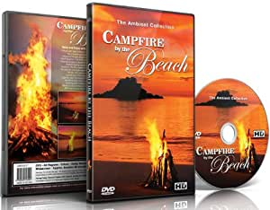 Fireplace DVD - Campfire By the Beach with the Sounds of the Sea and Real Wood Fire