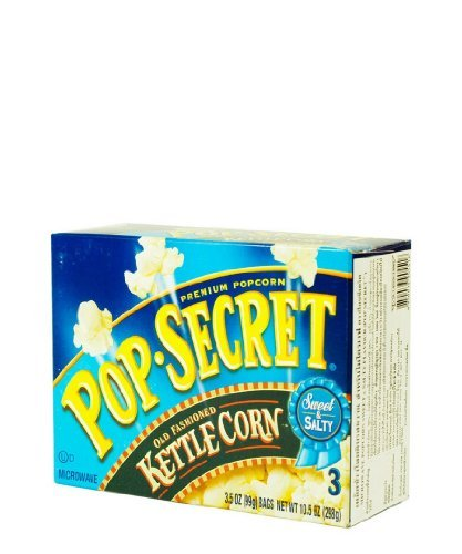 Pop Secret ,Microwavable Popcorn,Old Fasioned Kettle Corn - 3 Count - 10.5 Ounces (Microwavable Popcorn Bulk compare prices)