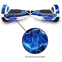 Protective Adhesive Vinyl Skin Wrap for Electric Balance Scooter â- Mini Hoverboard 2 Wheel Self Balancing Unicycle Sticker Decal (Blue Lightning) Color: Blue Lightning, Model: , Toys & Gaems