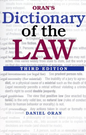 Oran's Dictionary of the Law, 3E
