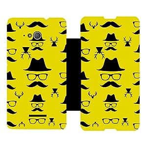 Skintice Designer Flip Cover with Vinyl wrap-around for Sony Xperia E4g, Design - mustache