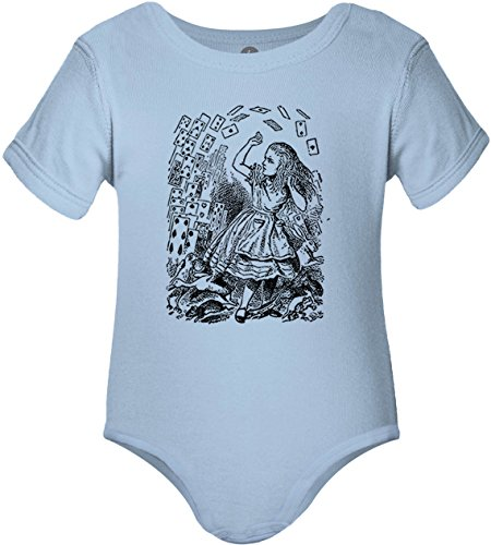 Big Texas Alice in Wonderland - Pack of Cards (Black) One-Piece Baby Grow Bodysuit