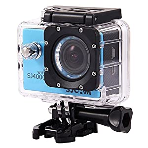 New Original SJCAM SJ4000 WiFi Action Camera 12MP 1080P H.264 1.5 Inch 170° Wide Angle Lens Waterproof Diving HD Camcorder Car DVR with a Free Makibes Cleaning Cloth (Blue)