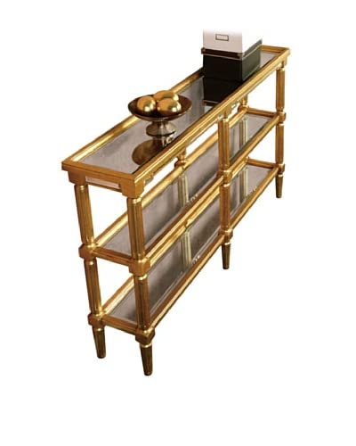 Florentine Console Table, Gold Leaf/Antique Mirror