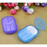 Gleader 2 boxes Mini Washing Hand Bath Travel Scented Slide Sheets Foaming Box Paper Soap