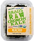 Brads Raw Crunchy Kale, Nacho Vegan Cheese, 2.5 Ounce Container