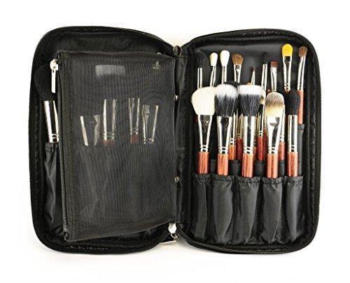louise-maelys-zipper-makeup-brush-bag-cosmetic-bag-with-inner-mesh-bag-black