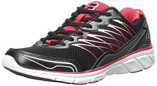 Fila Men's Countdown 2-M Running Shoe, Black/Fila Red/Dark Silver, 8.5 M US