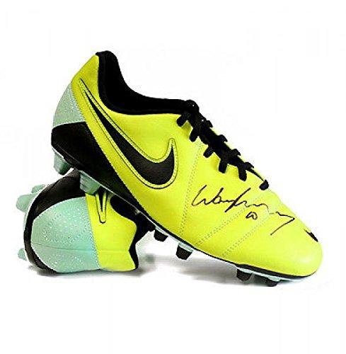 Wayne Rooney Soccer Shoes Wayne Rooney Signed Football Boot Nike CTR Yellow