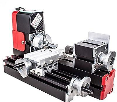 ELEOPTION(TM) New 12V Miniature Metal Multifunction Lathe Machine DIY 20000Rev/min 45*135mm