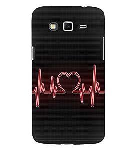 Love Beat design 3D Hard Polycarbonate Designer Back Case Cover for Samsung Galaxy Grand Neo Plus :: Samsung Galaxy Grand Neo Plus i9060i