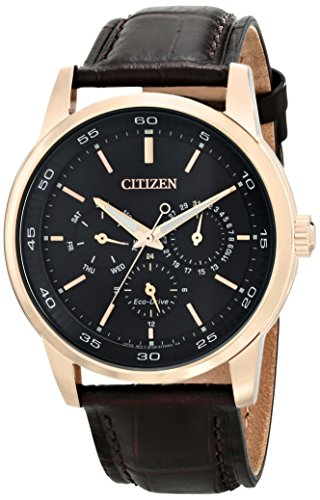Citizen Eco-Drive Dress Multifunction Leather - Brown Men's watch #BU2013-08E