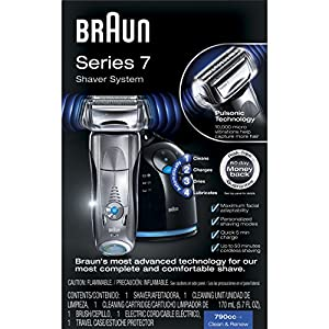 Braun Series 7 790cc-4 Electric Foil Shaver with Clean&Charge Station,1 Count