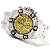 Invicta Mens Reserve Grand Arsenal Swiss Made Chronograph Yellow Dial SS Bracelet Watch 80172