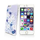 Iphone 6 4.7 Ultra Thin Case,nancy's Shop Colorful Painting Luxury 3d Bling Hard Phone Accessories Case and Covers for Apple Iphone 6 4.7 Inch Screen (Blue and White Flower Nancy's Shop Case Cover)
