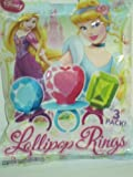 Disney Princess Lollipop Rings 3pks of 3 Rings (9 Rings Total)