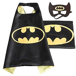 (Batman) ROXX Superhero Superman Kids Girl And Boy Cape and Mask Costume for Child
