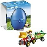 Playmobil - A1502686 - Jeu De Construction - Enfant + Tracteur Et Remorque