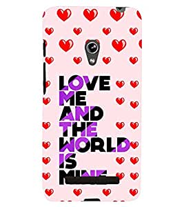 printtech Love Quotes Back Case Cover for Asus Zenfone 5::Asus Zenfone 5 A500CG