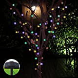 InnooTech Chuzzle Ball Solar Powered String Lights Outdoor Globe Fairy Lights Multi Color 80 LED for Christmas Tree Garden Patio Wedding